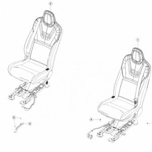2nd row seat assemblies - pur trim - wrapped (after august 2017)