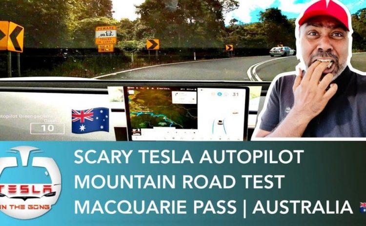 Автопилот Теслы берет на себя опасную горную дорогу в Австралии