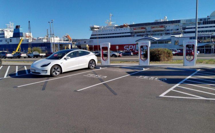 Tesla V3 Supercharging теперь доступен в Австралии, 3 отсека по 250 кВт в Девонпорте, Тасмания